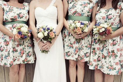 floral_vintage_style_bridesmaid_dresses